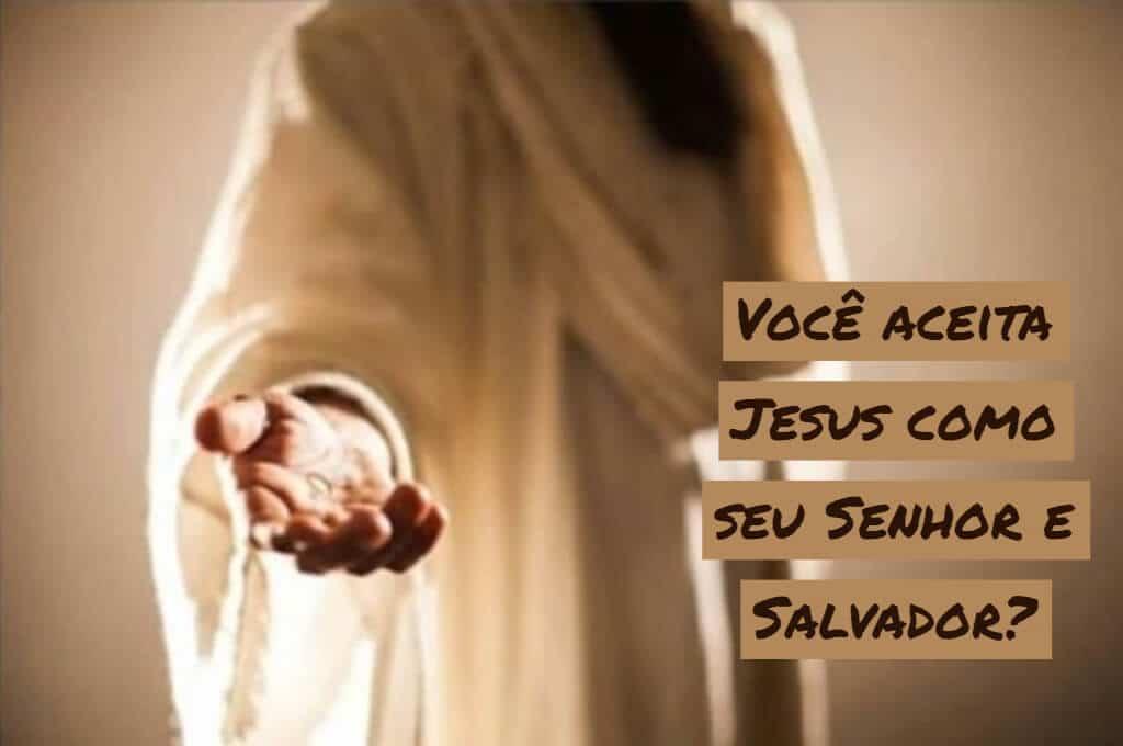 Jesus com a mão estendida